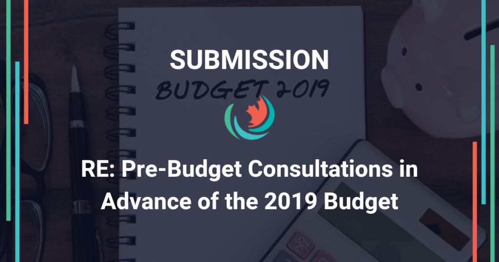 Submission for the Pre-Budget Consultations in Advance of the 2019 Budget