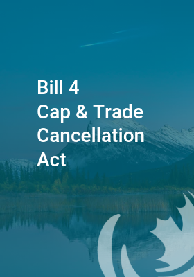 Submission regarding Ontario Bill 4 – Cap and Trade Cancellation Act, 2018