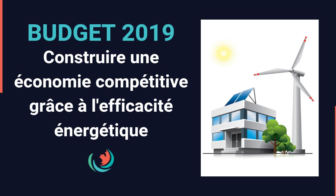 Priorités du budget de 2019