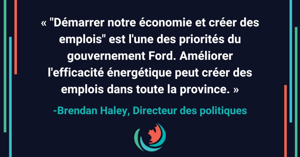 Le gouvernement Ford a besoin d'une stratégie EE