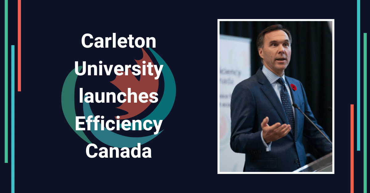 Carleton launches Efficiency Canada