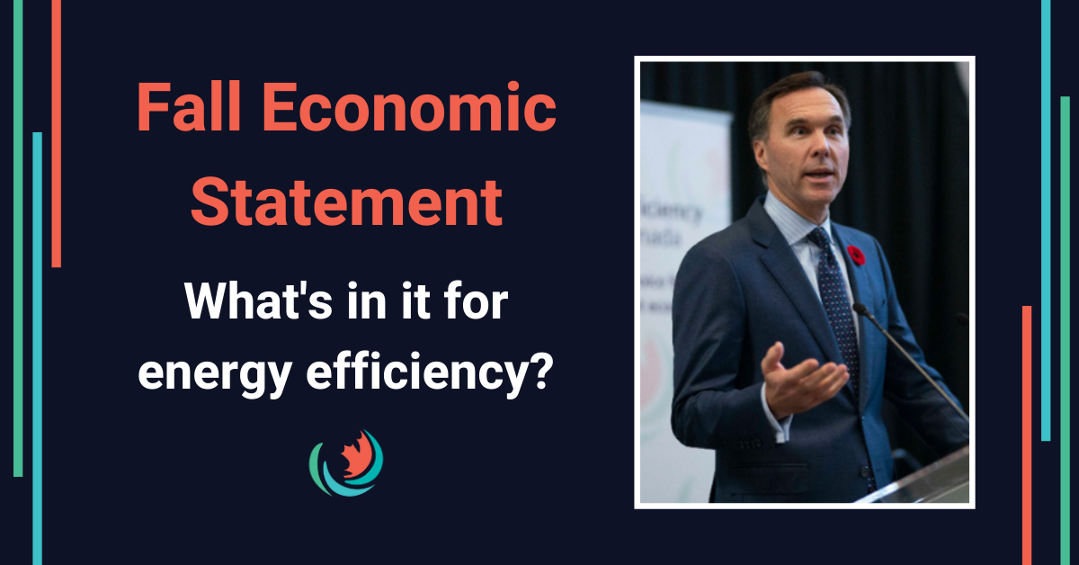 Federal Economic Statement: EE measures