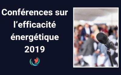 Conférences sur l'efficacité énergétique 2019