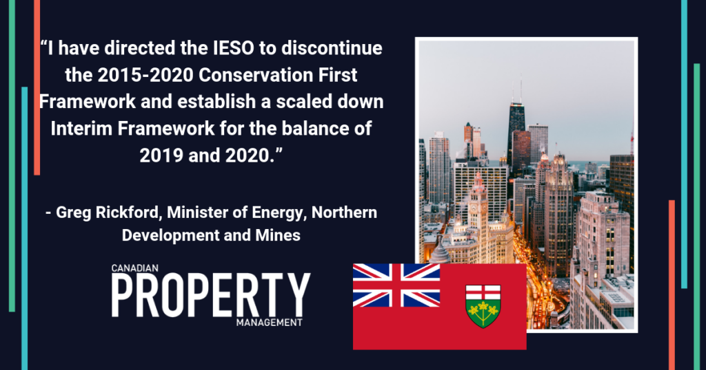 Ontario reroutes electricity conservation and demand management (CDM) program delivery