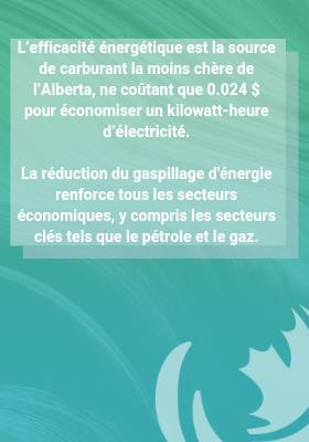 Faites de l'efficacité énergétique un élément essentiel de l'économie Albertaine