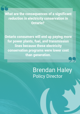 Ontario Government Breaks Promise to Support Electricity Conservation