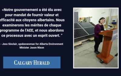 L'UCP reconsidère l'élimination de l'Efficacité Énergétique Alberta; examinera les programmes «avec un esprit ouvert»