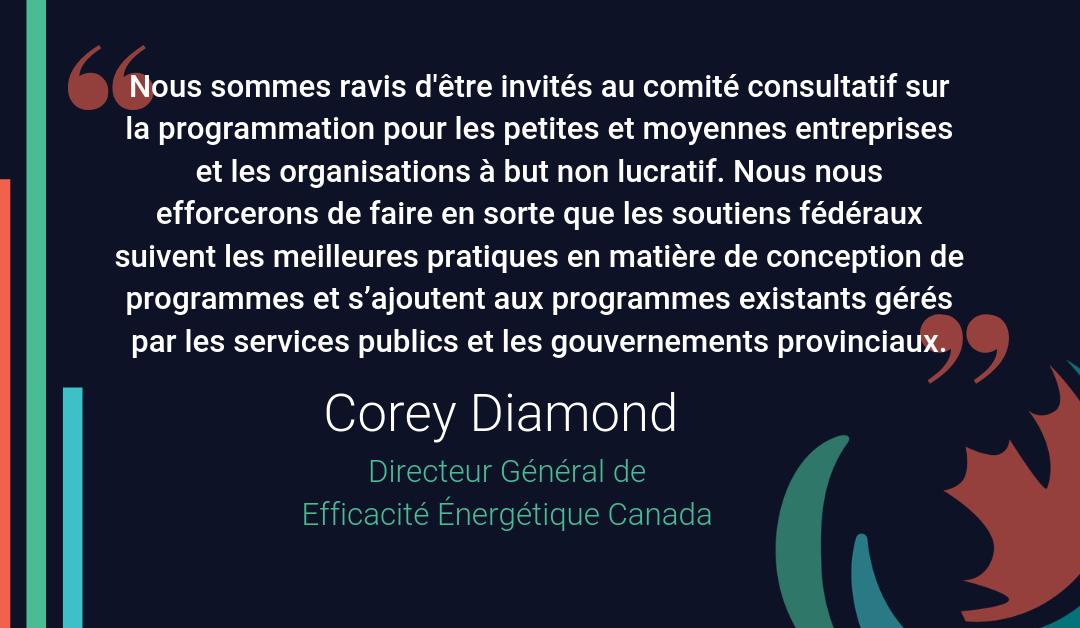 Commentaires d'Efficacité Canada sur l'annonce du gouvernement fédéral en matière de tarification du carbone et des petites entreprises – 2019-05-29