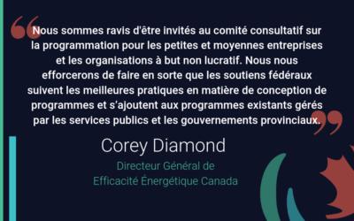 Commentaires d'Efficacité Énergétique Canada sur l'annonce fédérale sur la tarification du carbone et des petites entreprises