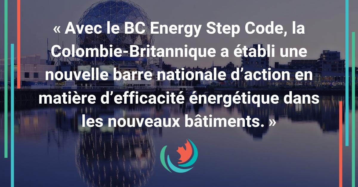 BC Step Code stimule nouveau marché de 3,3 G$