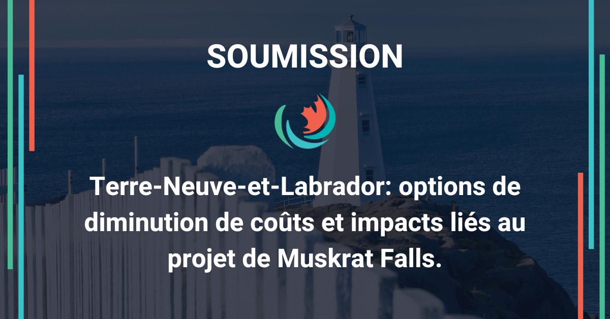 Muskrat Falls: options de réduction de coûts et impacts