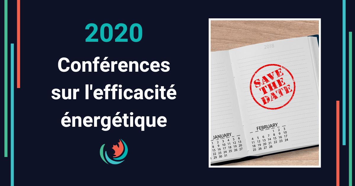 Conférences 2020 en efficacité énergétique