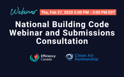 February 27, 2020: National Building Code Webinar and Submissions Consultation