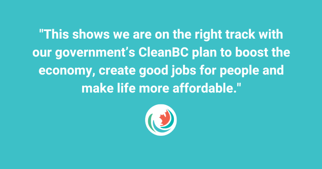 British Columbia Ministry of Energy, Mines and Petroleum Resources: Minister's statement on B.C. ranking first in Canada for energy efficiency