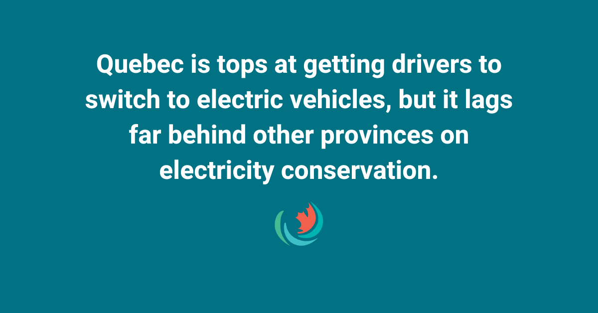 Montreal Gazette: Quebec tops for electric cars but lags in energy conservation