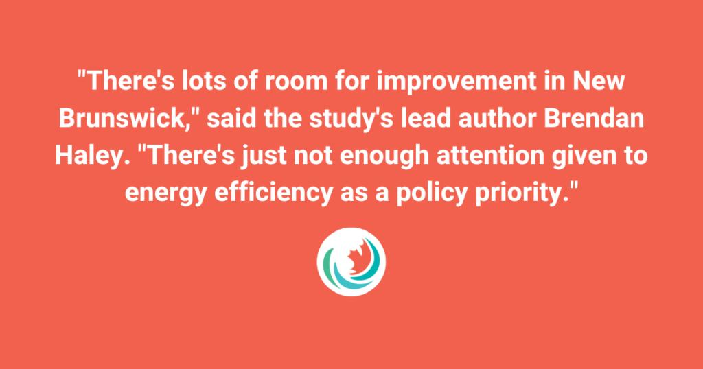 New Brunswick Telegraph-Journal: New Brunswick among biggest energy wasters