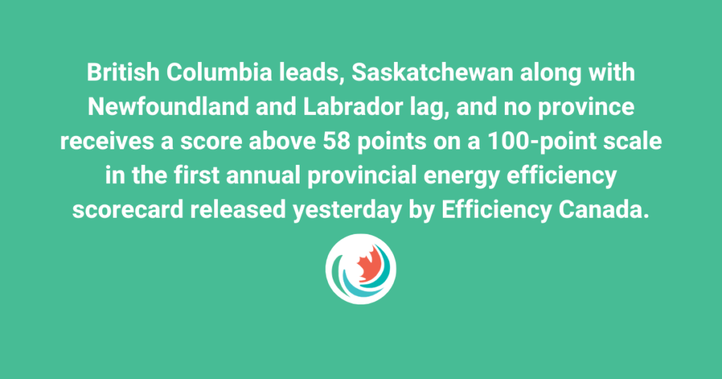 The Energy Mix: Energy efficiency scorecard shows B.C. leading, but all provinces with room to improve