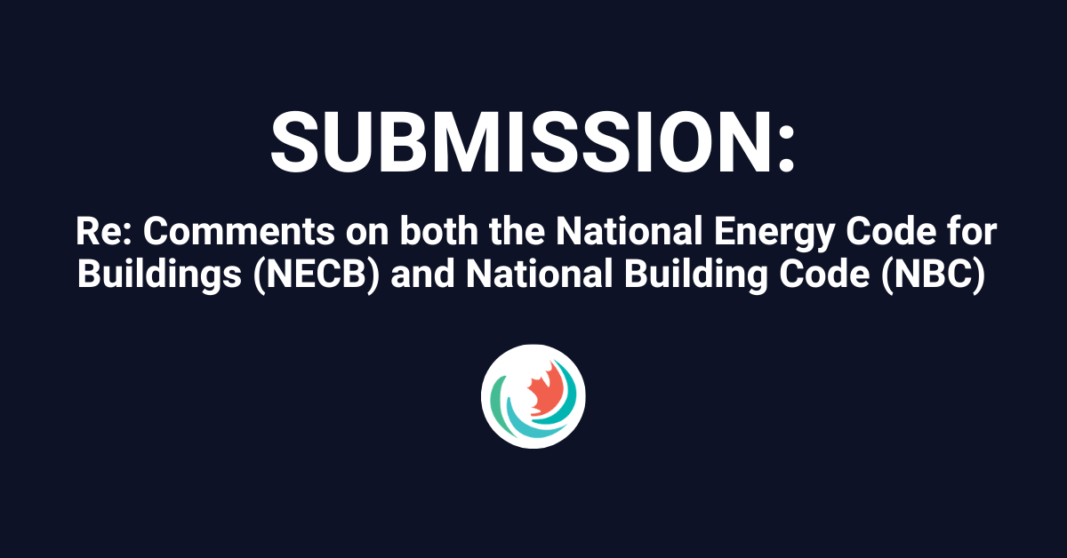 Efficiency Canada's submission to the National Research Council of Canada (NRC)