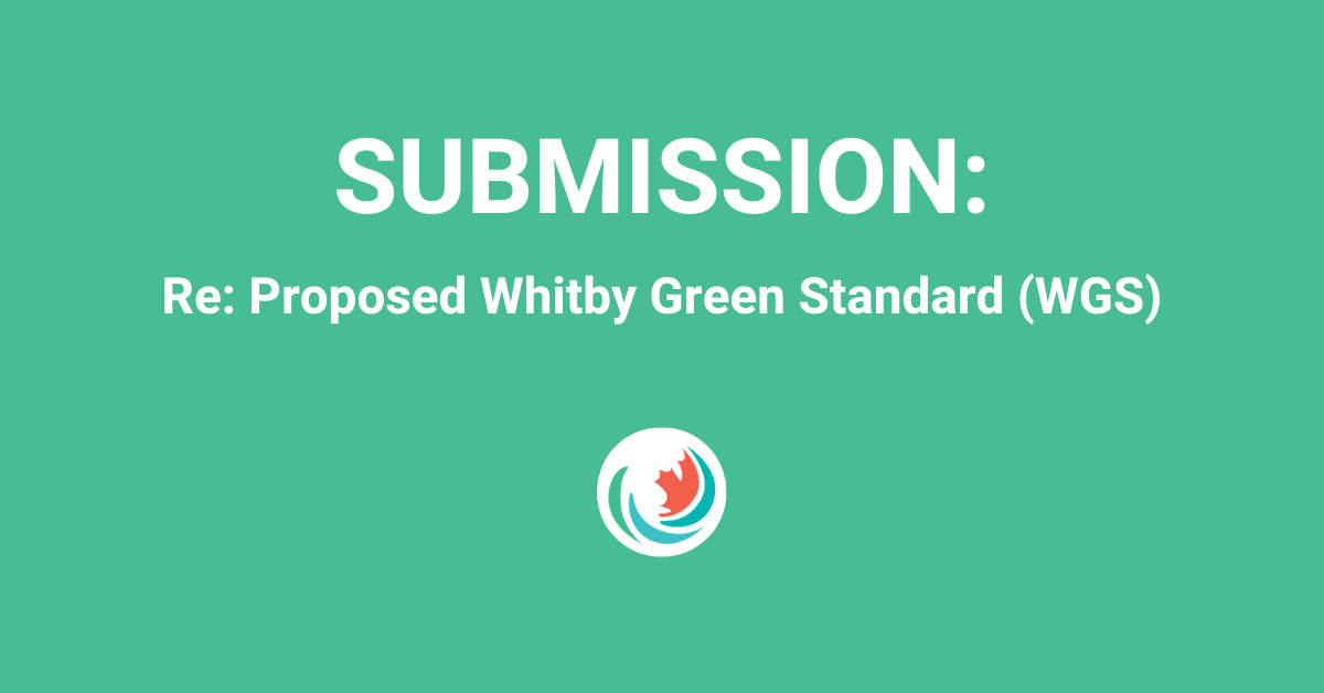 Efficiency Canada's Submission to the Town of Whitby