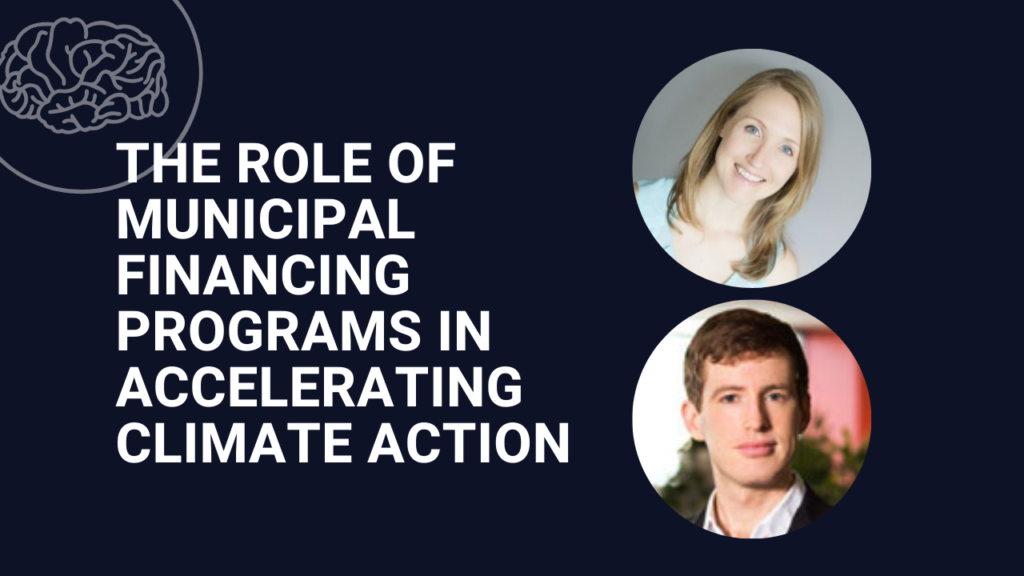 The role of municipal financing programs in accelerating climate action