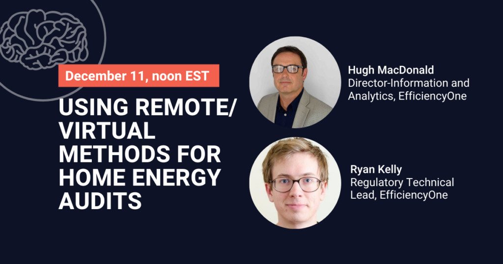 Using remote/virtual methods for home energy audits