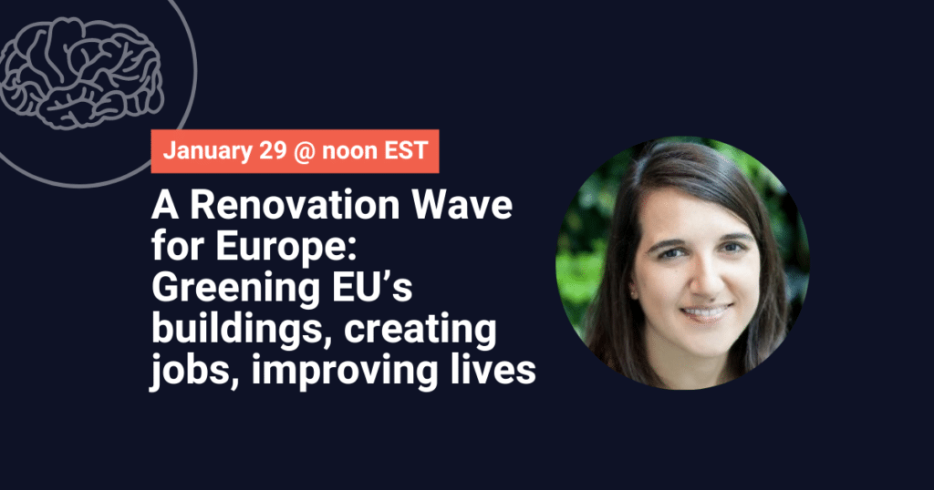A Renovation Wave for Europe – greening EU's buildings, creating jobs, improving lives