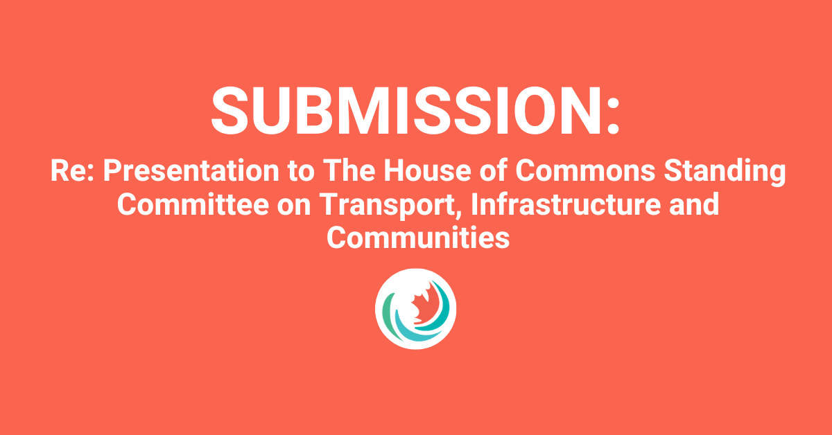 Efficiency Canada's presentation to The House of Commons Standing Committee on Transport, Infrastructure and Communities