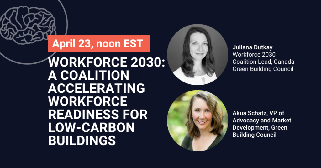 Workforce 2030: A coalition accelerating workforce readiness for low-carbon buildings