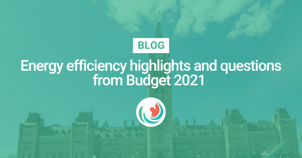 Energy efficiency highlights and questions from Budget 2021