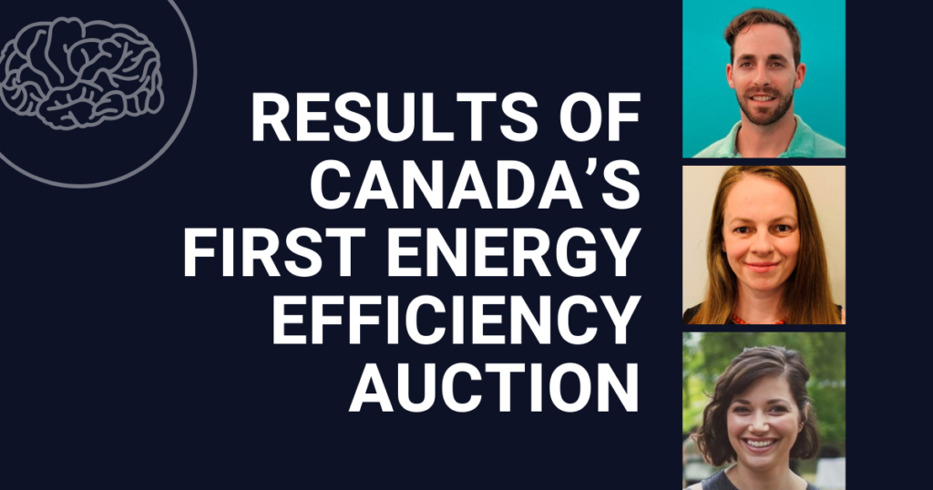 Results of Canada's First Energy Efficiency Auction