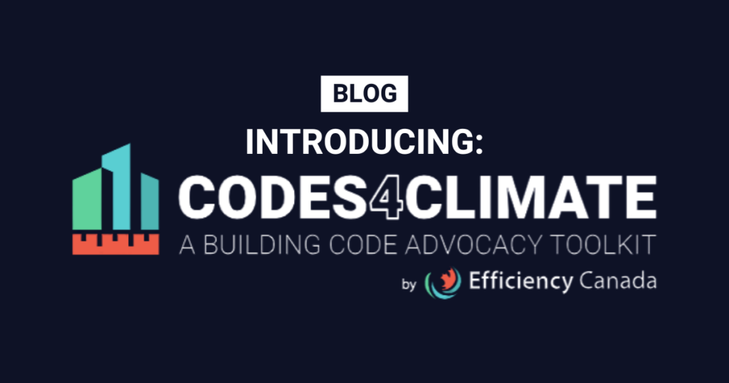 We want YOU to make building codes work for climate action