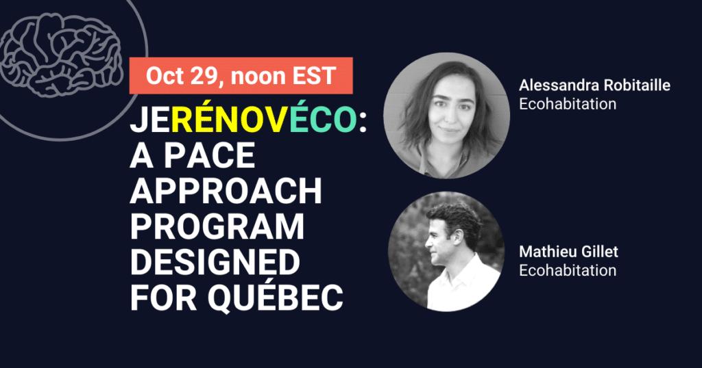 JeRénovÉco – A PACE approach program designed for Québec
