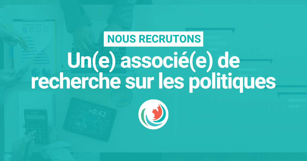 Nous recrutons un(e) associé(e) de recherche sur les politiques