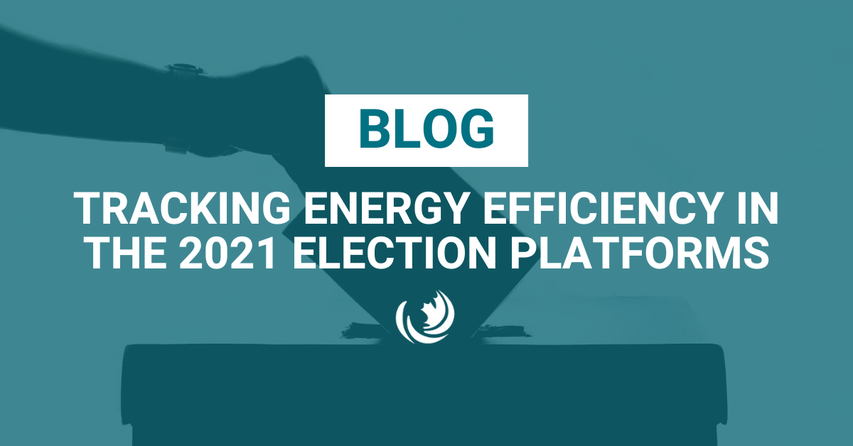Tracking energy efficiency in the 2021 election platforms